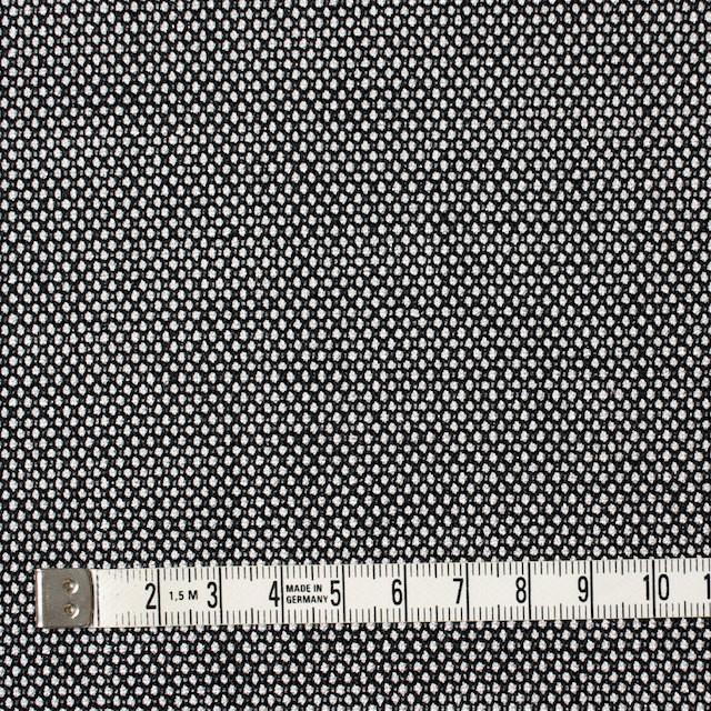 ウール&ポリエステル混×無地(シルバー&ブラック)×バーズアイ・ストレッチ イメージ4