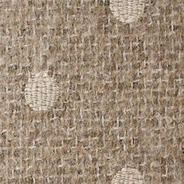 アクリル&ウール混×ドット(オートミール)×ファンシーツイード刺繍_イタリア製 イメージ1