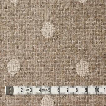 アクリル&ウール混×ドット(オートミール)×ファンシーツイード刺繍_イタリア製 サムネイル4