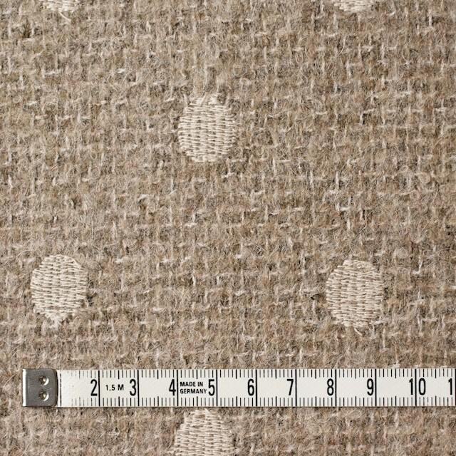アクリル&ウール混×ドット(オートミール)×ファンシーツイード刺繍_イタリア製 イメージ4