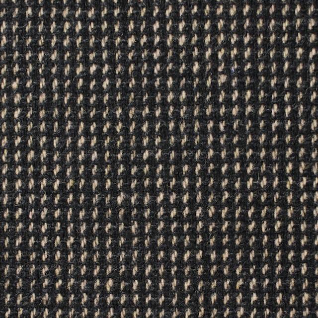 ウール&ポリエステル混×ステッチ(ベージュ&チャコールグレー)×ツイードストレッチ イメージ1