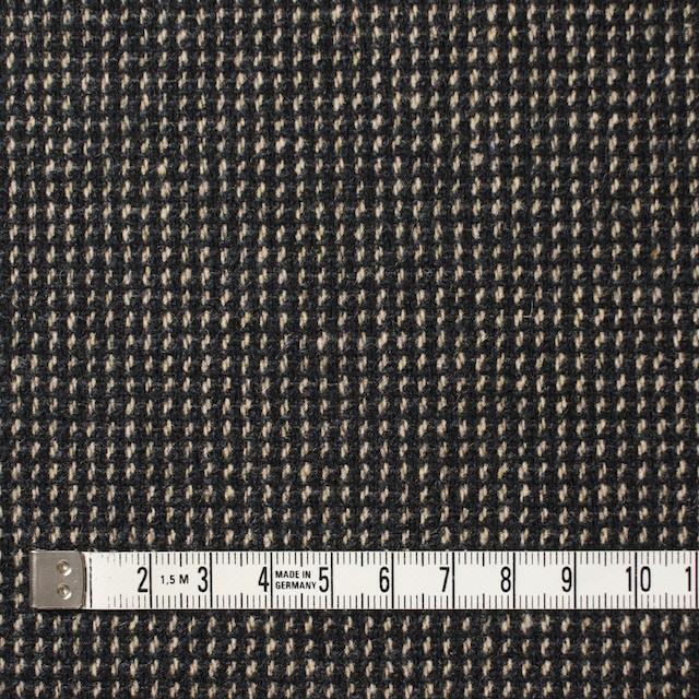 ウール&ポリエステル混×ステッチ(ベージュ&チャコールグレー)×ツイードストレッチ イメージ4