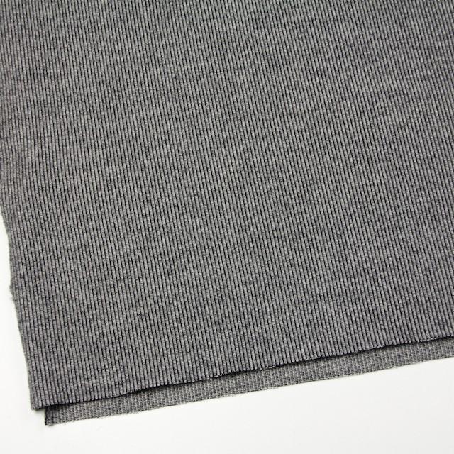 ウール&ナイロン混×無地(グレー)×リブニット イメージ2