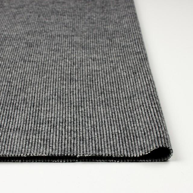 ウール&ナイロン混×無地(グレー)×リブニット イメージ3