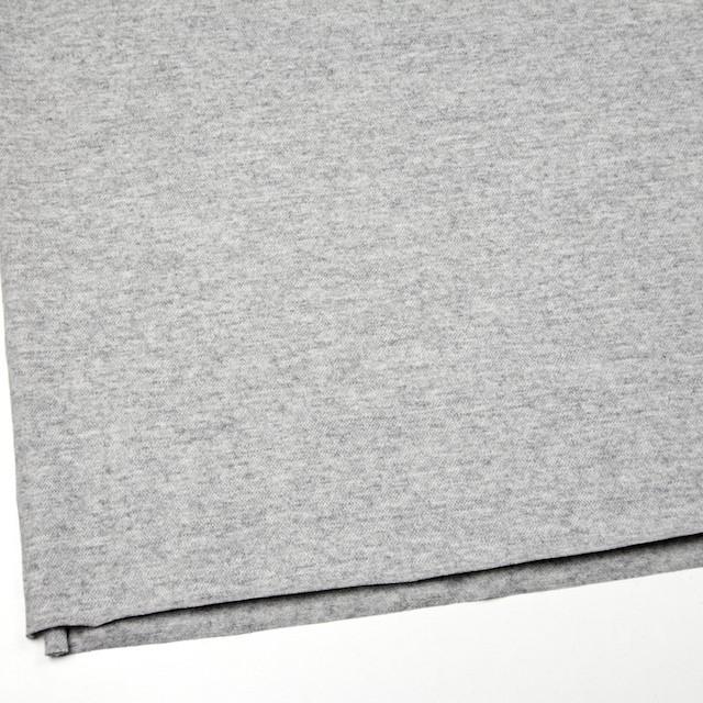 ウール&ナイロン×無地(ライトグレー)×圧縮天竺ニット イメージ2