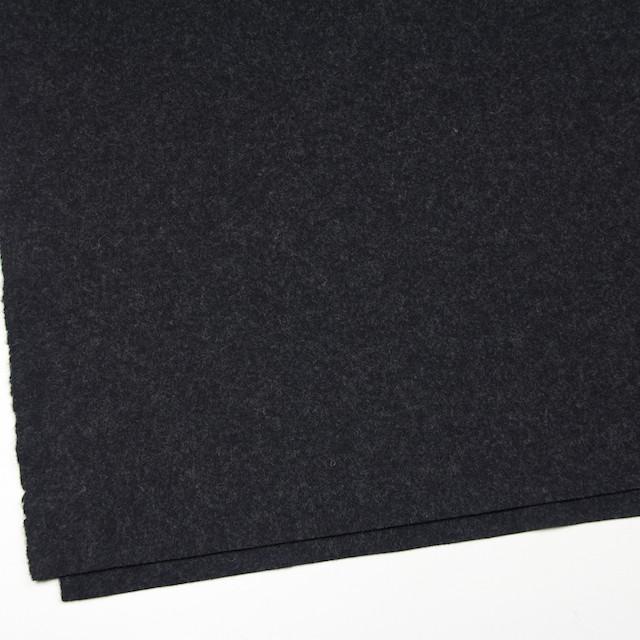 ウール&ナイロン×無地(チャコールブラック)×圧縮Wニット イメージ2