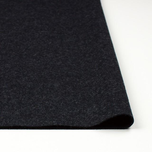 ウール&ナイロン×無地(チャコールブラック)×圧縮Wニット イメージ3