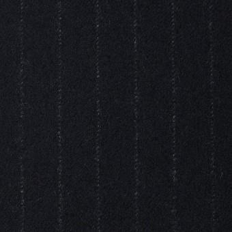 ウール×ストライプ(ブラック)×サージ サムネイル1