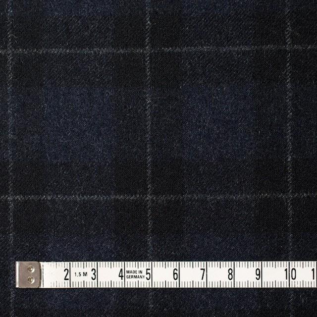ウール×チェック(ダークネイビー&ブラック)×サージ イメージ4