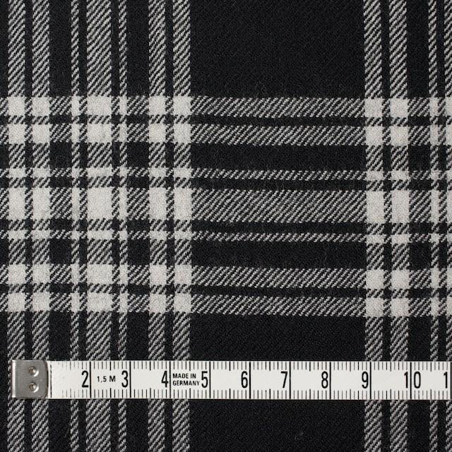 ウール×チェック(ブラック)×サージ イメージ4