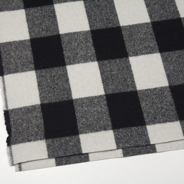 ウール&ナイロン×チェック(アイボリー&ブラック)×ツイード イメージ2