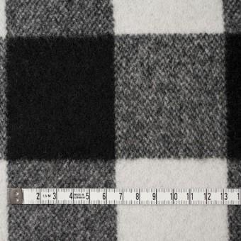 ウール&ナイロン×チェック(アイボリー&ブラック)×ツイード サムネイル4