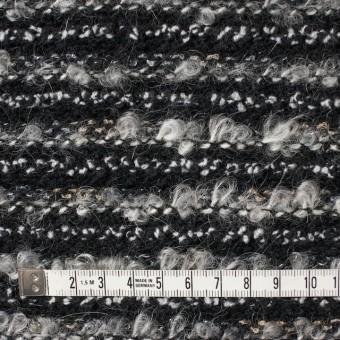ウール&ナイロン×ミックス(グレー&ブラック)×ジャガードニット サムネイル4