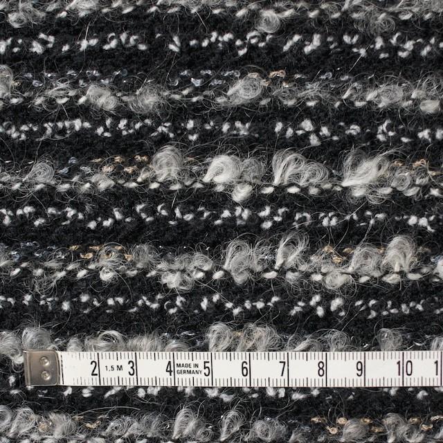 ウール&ナイロン×ミックス(グレー&ブラック)×ジャガードニット イメージ4
