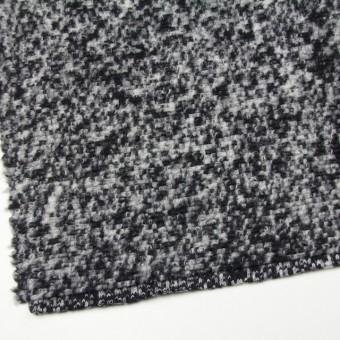 ウール&ポリエステル×モザイク(オフホワイト&ブラック)×ループニット サムネイル2