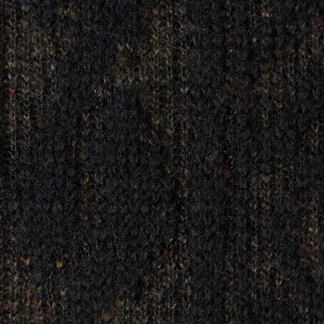 ウール&ポリエステル×幾何学模様(ブラック&ダークブラウン)×ジャガードニット_イタリア製 イメージ1