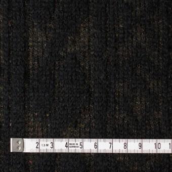 ウール&ポリエステル×幾何学模様(ブラック&ダークブラウン)×ジャガードニット_イタリア製 サムネイル4