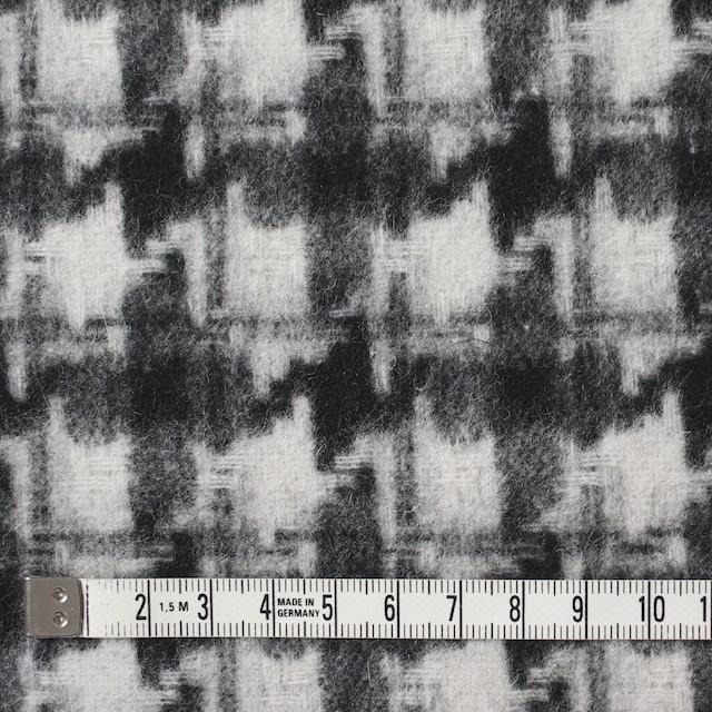 ウール&ポリエステル×チェック(アイボリー&ブラック)×千鳥格子_全2色 イメージ4
