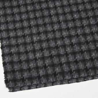 ウール&ポリエステル×チェック(チャコール&ブラック)×千鳥格子_全2色 サムネイル2