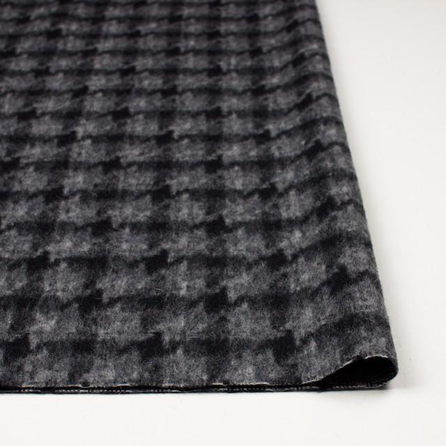 ウール&ポリエステル×チェック(チャコール&ブラック)×千鳥格子_全2色 イメージ3