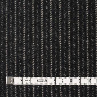 ウール&ナイロン×ストライプ(ブラック)×メルトン サムネイル4