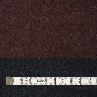 ウール×ボーダー(エンジ&チャコールグレー)×フラノ(フランネル)_全2色 サムネイル4