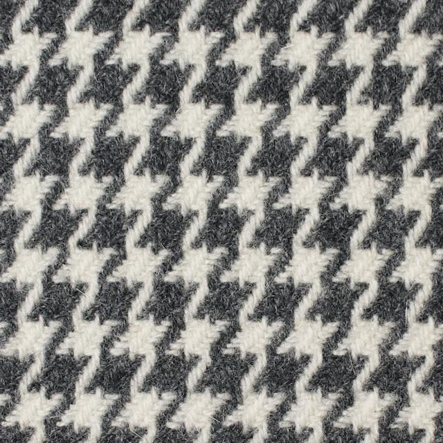 ウール&ナイロン混×チェック(アイボリー&グレー)×千鳥格子 イメージ1