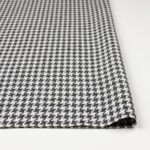 ウール&ナイロン混×チェック(アイボリー&グレー)×千鳥格子 イメージ3