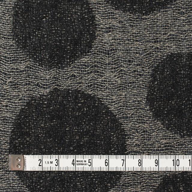 ウール×ドット(チャコール&ブラック)×ガーゼ(風通織) イメージ4