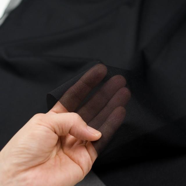 アピコ接着芯(薄地)_ナイロン(ブラック)_ウール素材の全面接着等に_全2色 イメージ3