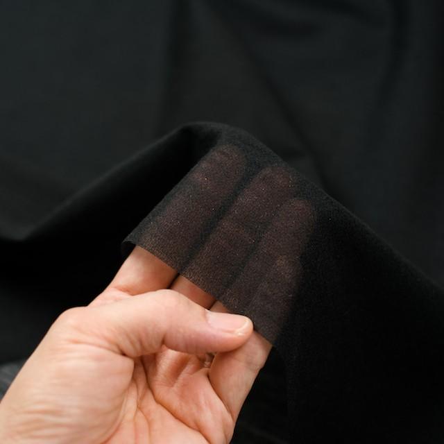 アピコ接着芯(中厚地)_ポリエステル&アクリル(ブラック)_ウール素材の襟、見返し等に_全2色 イメージ3