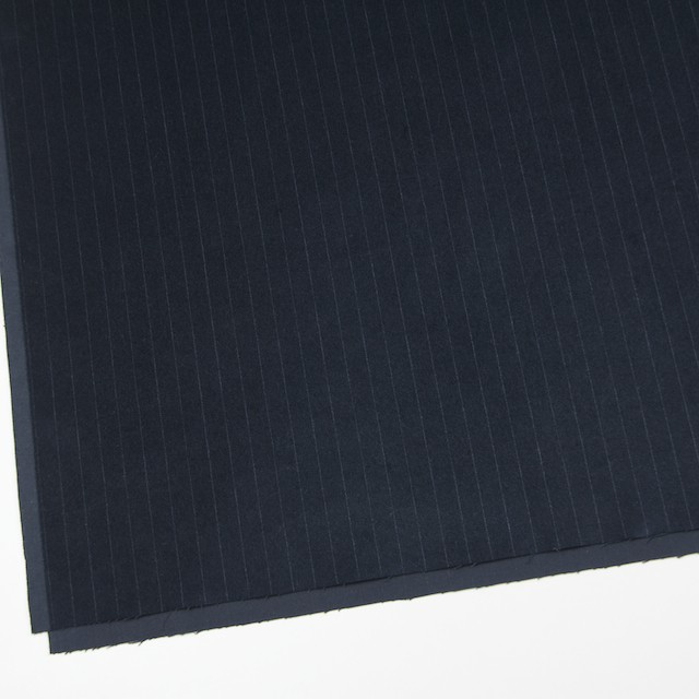 コットン&ポリウレタン×ストライプ(インクブルー)×ベッチン・ストレッチ イメージ2