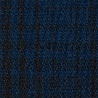 ウール×チェック(ネイビー)×ツイード_全3色
