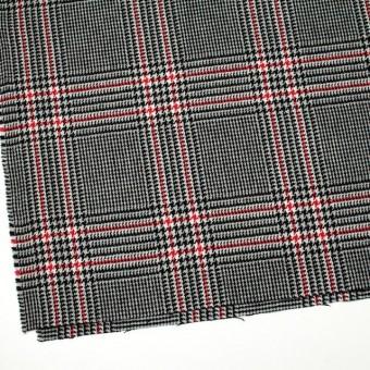 ウール×チェック(レッド&ブラック)×千鳥格子 サムネイル2