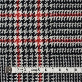 ウール×チェック(レッド&ブラック)×千鳥格子 サムネイル4