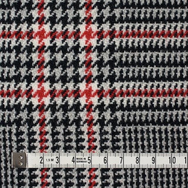 ウール×チェック(レッド&ブラック)×千鳥格子 イメージ4