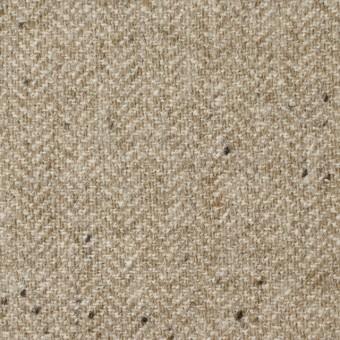 ウール&ナイロン混×無地(ベージュ)×ヘリンボーン・ストレッチ_全3色