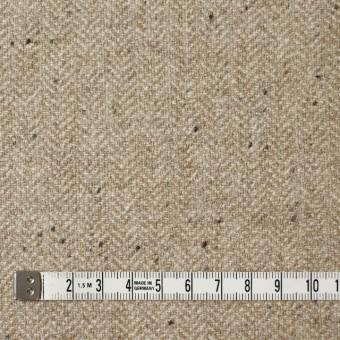 ウール&ナイロン混×無地(ベージュ)×ヘリンボーン・ストレッチ_全3色 サムネイル4