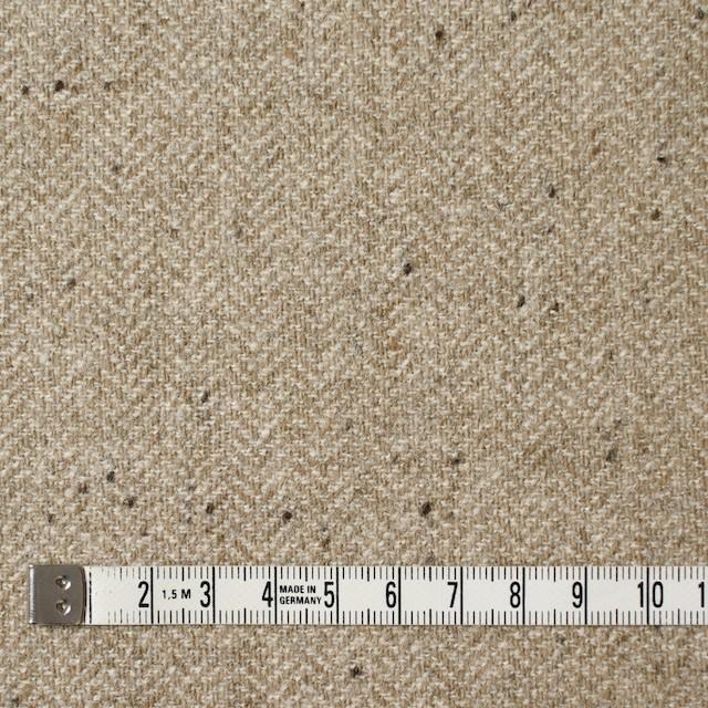 ウール&ナイロン混×無地(ベージュ)×ヘリンボーン・ストレッチ_全3色 イメージ4