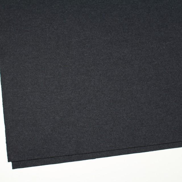 ウール×無地(チャコールグレー)×圧縮Wニット イメージ2