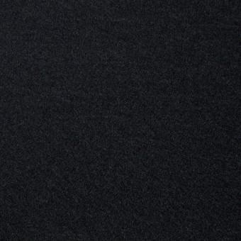 ウール×無地(ブラック)×圧縮Wニット_全3色