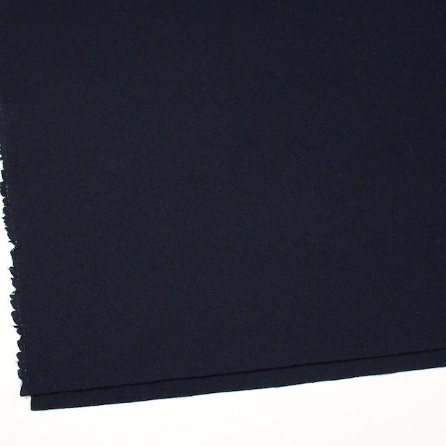 ウール×無地(ネイビー)×メルトン イメージ2