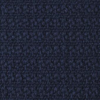 ウール×無地(ネイビー)×かわり織_全2色