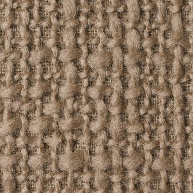 ウール×無地(オークルベージュ)×かわり織_全2色 イメージ1