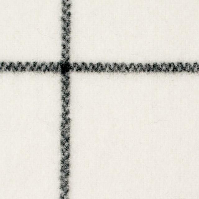 ウール×チェック(アイボリー)×メルトン_全2色 イメージ1