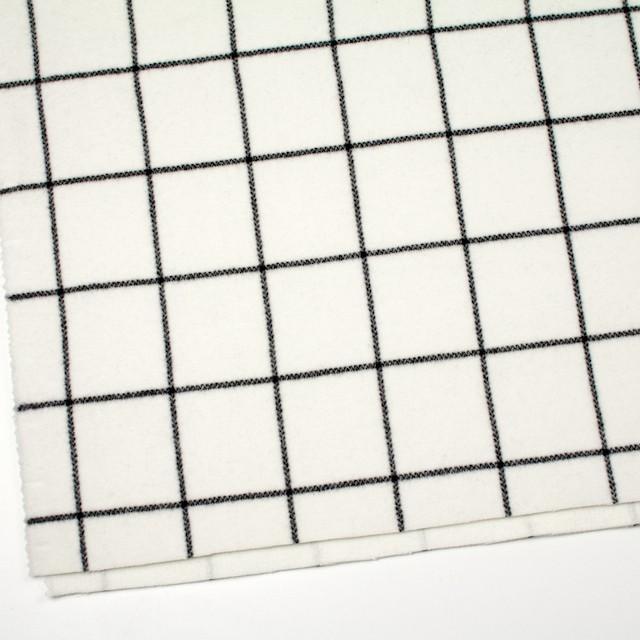 ウール×チェック(アイボリー)×メルトン_全2色 イメージ2