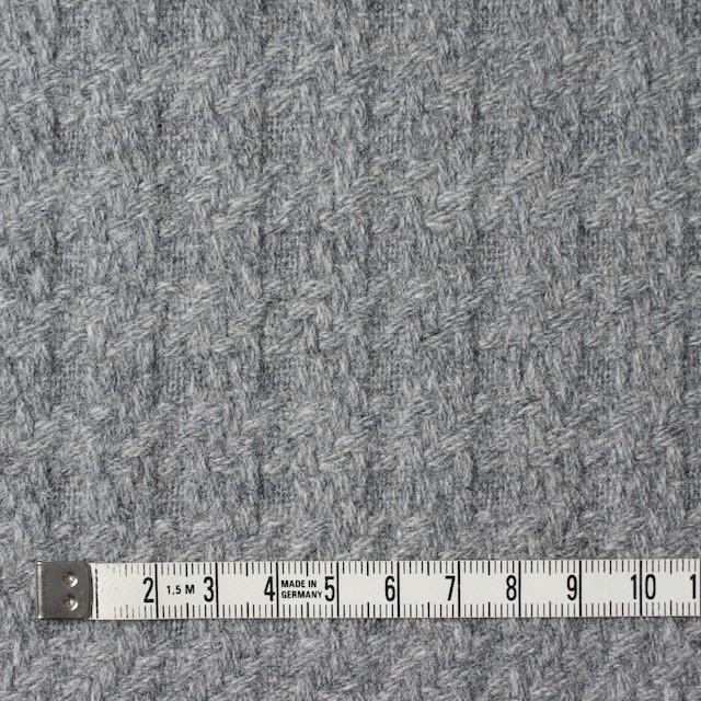 ウール×無地(グレー)×かわり織 イメージ4