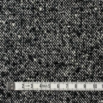 ウール&ポリエステル×ミックス(オフホワイト&ブラック)×ファンシーツイード サムネイル4