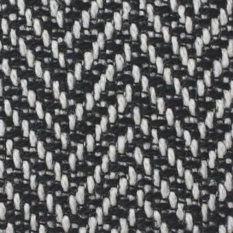 ウール×ミックス(オフホワイト&ブラック)×ヘリンボーン