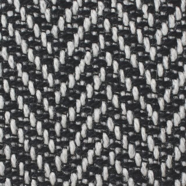 ウール×ミックス(オフホワイト&ブラック)×ヘリンボーン イメージ1